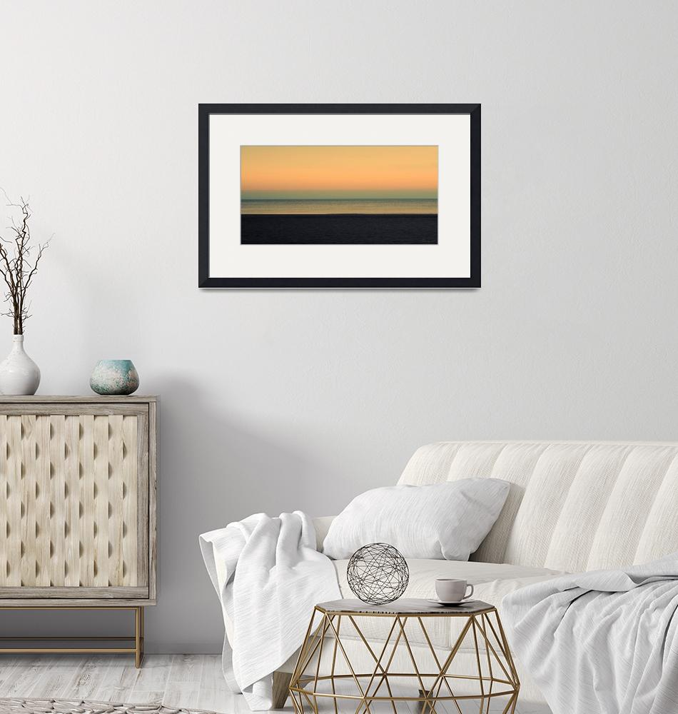 """Pastel Sunrise Seascape 1b""  (2015) by Ricardos"
