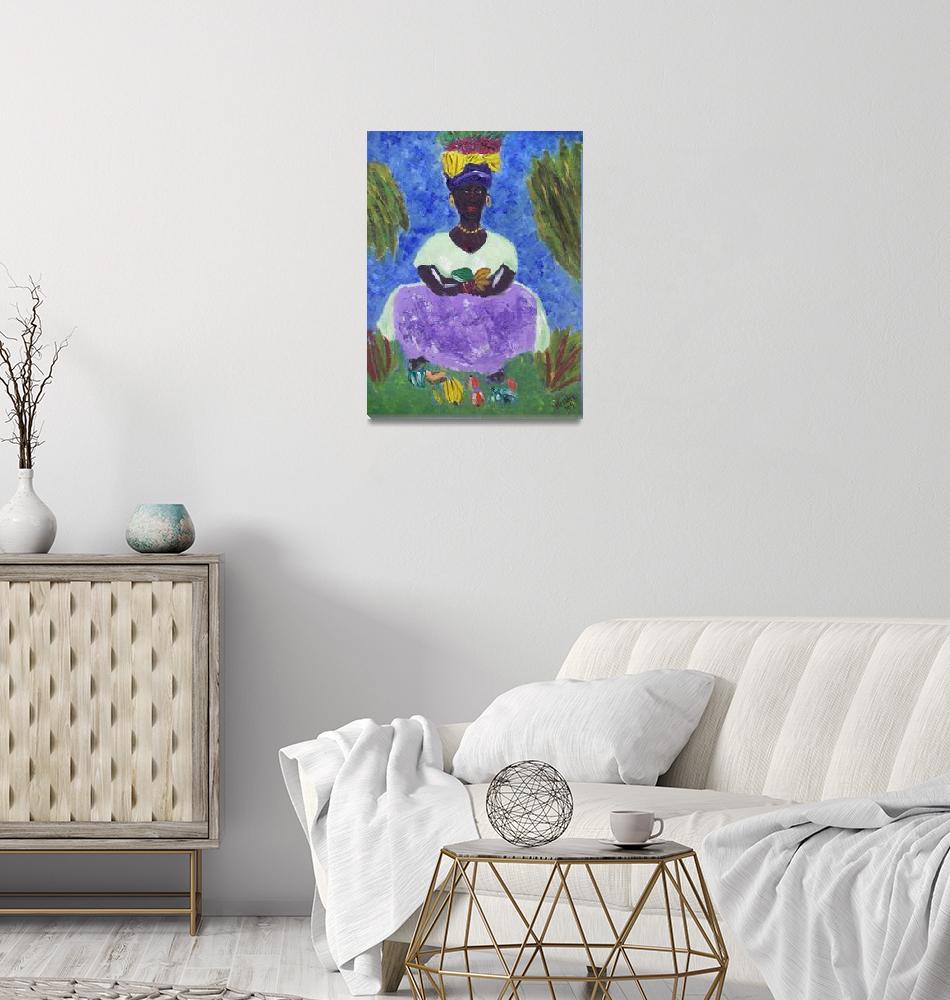 """St. Lucia Caribbean Woman""  (2009) by magnoliadorn"
