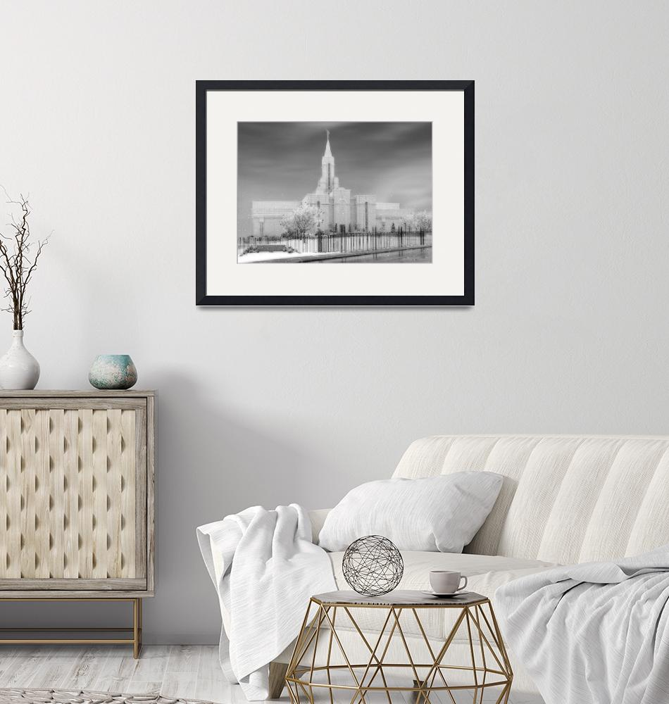 """""""Bountiful Temple Large-16x22-BW""""  by TerrySpringer"""
