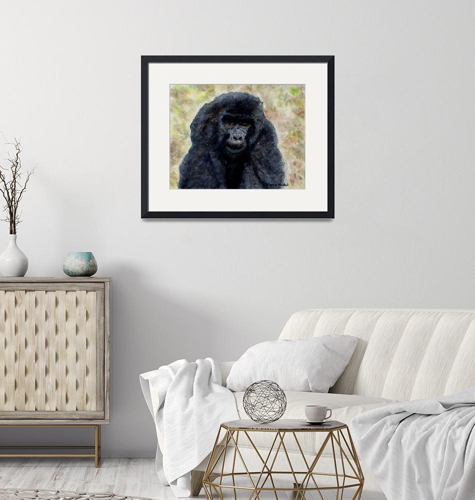 """Curious_Young_Male_Gorilla""  (2004) by DianaNadalFineArt"