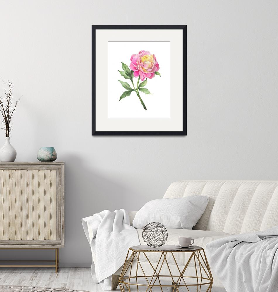 """""""Pink Peony""""  by wildfield"""