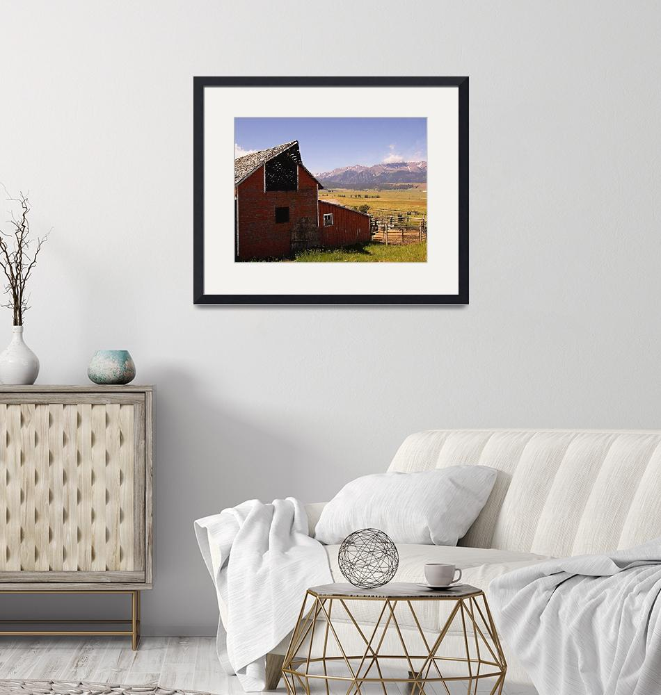"""""""barn and mountain Pastel""""  by Mac"""