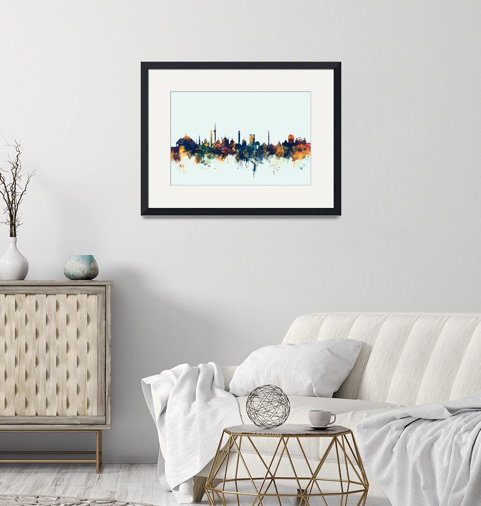 """New Delhi India Skyline""  (2015) by ModernArtPrints"
