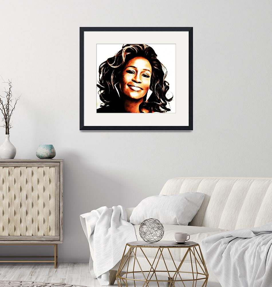 """""""Whitney Houston""""  (2012) by D77TheDigArtisT"""