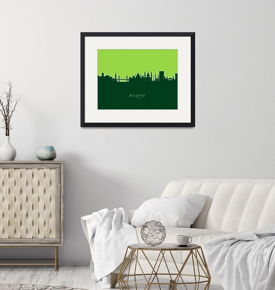 """Budapest Hungary Skyline""  (2020) by ModernArtPrints"