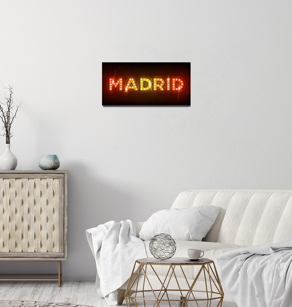 """Madrid in Lights""  (2011) by ModernArtPrints"