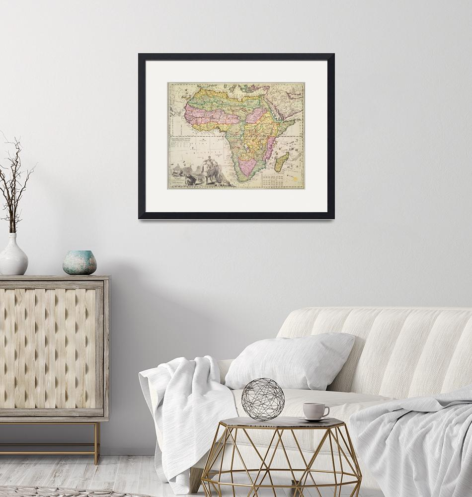 """""""Map of Africa""""  by fineartmasters"""