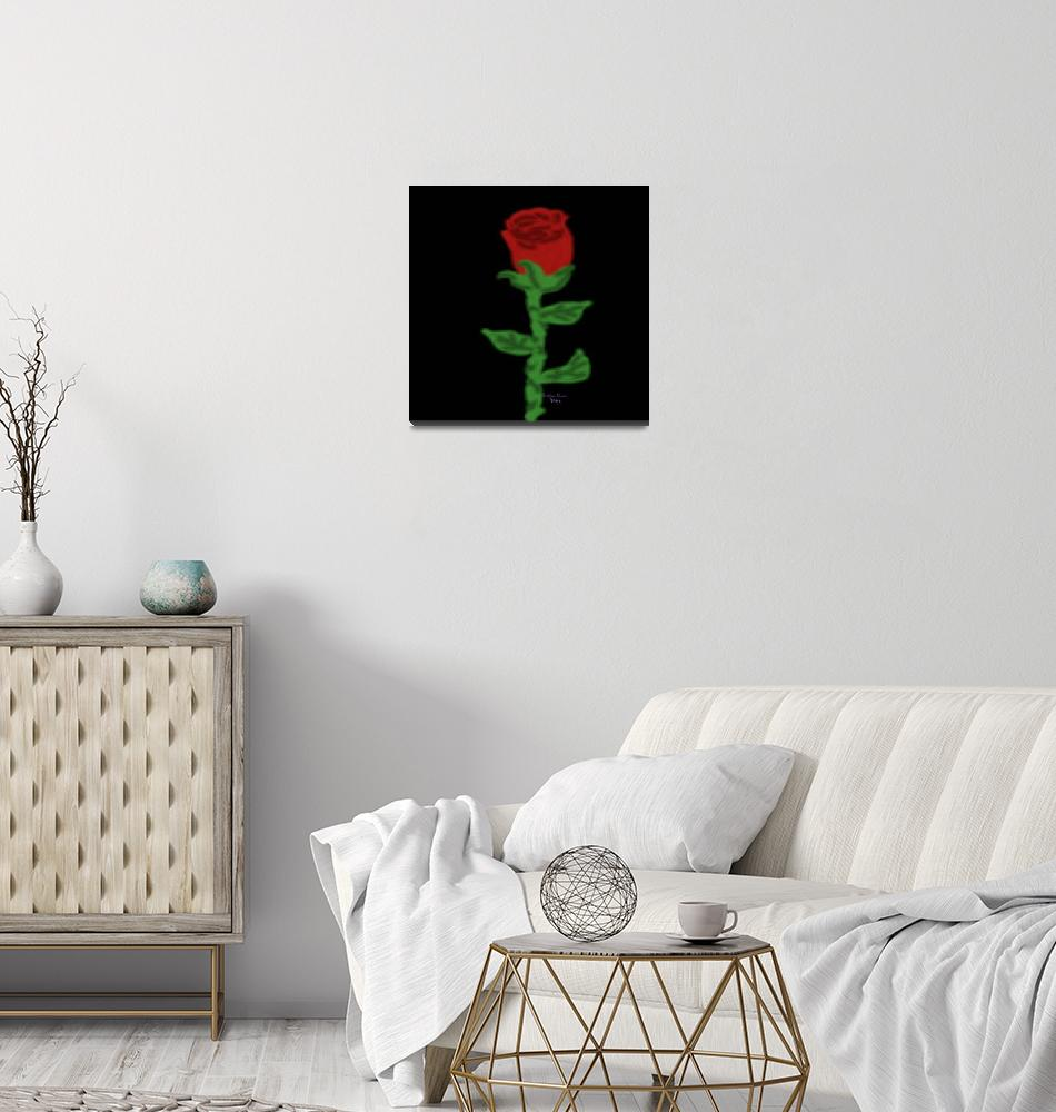 """""""One Red Rose""""  (2015) by SeaAngel"""