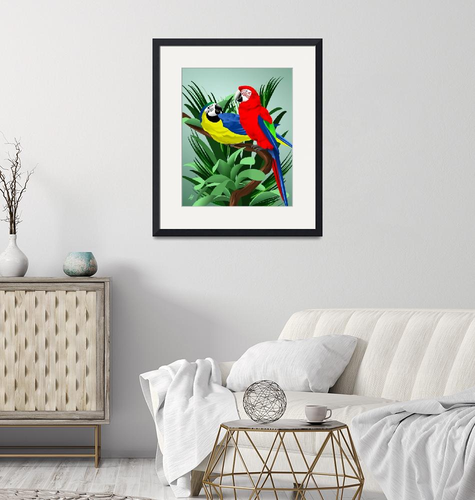 """""""Two Parrots""""  by waterart"""