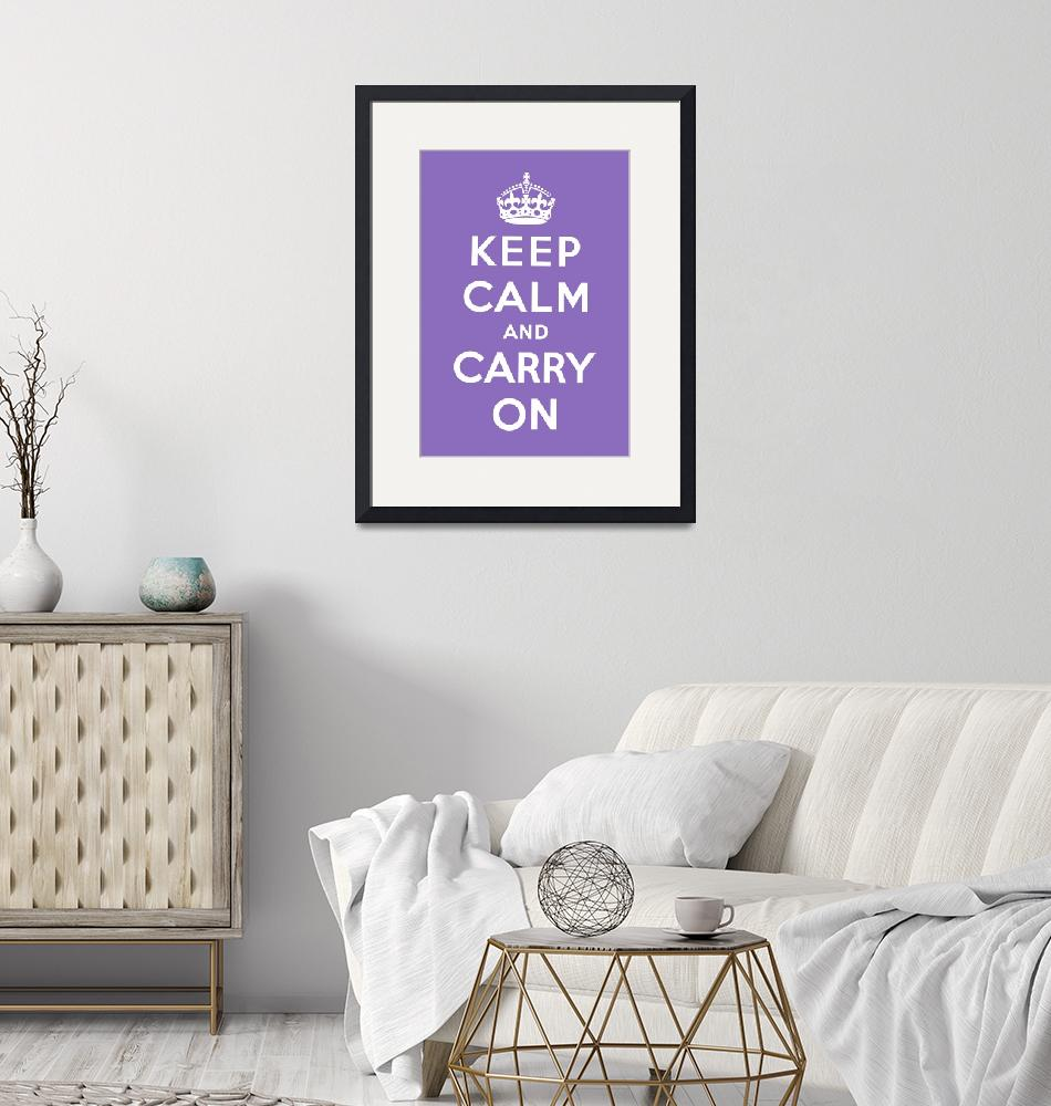 """""""Purple Keep Calm And Carry On 2""""  by oldies"""