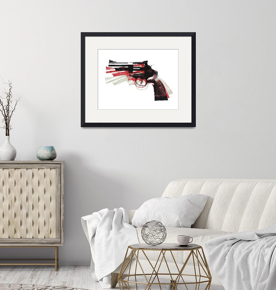"""Revolver on White""  (2010) by ModernArtPrints"