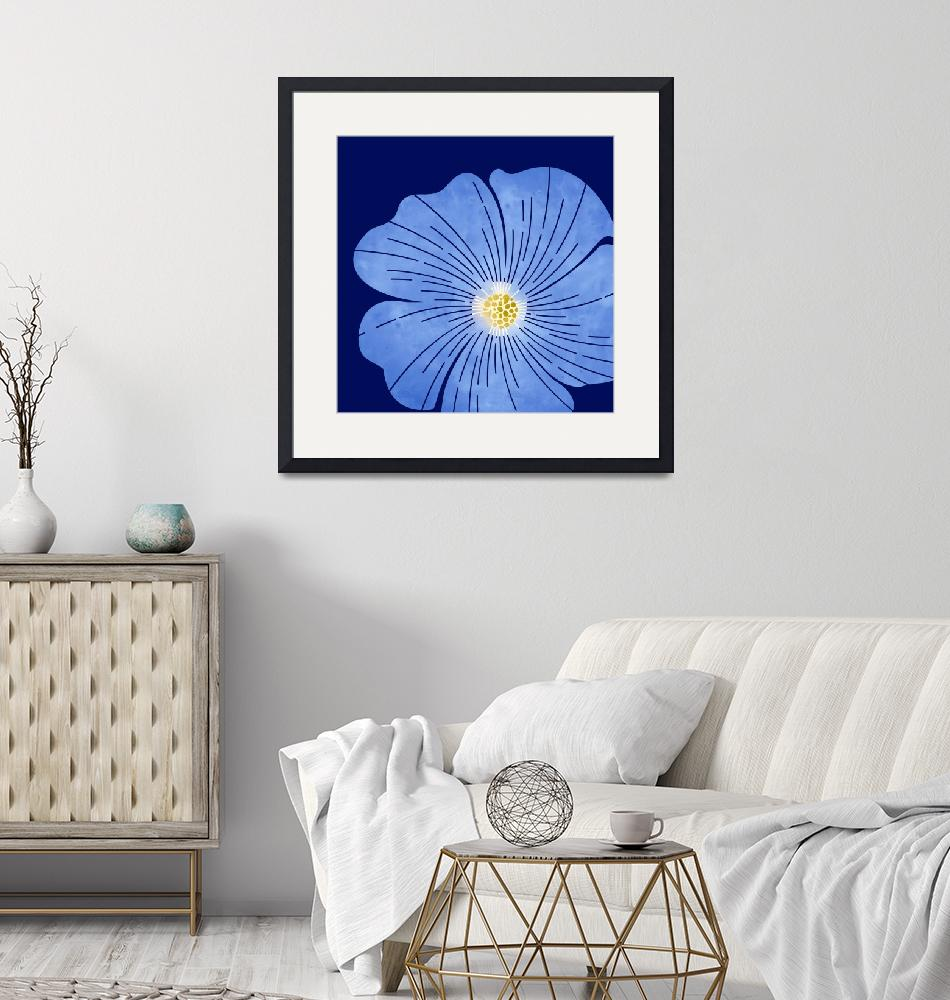 """""""Blue Wildflower""""  (2018) by moderntropical"""