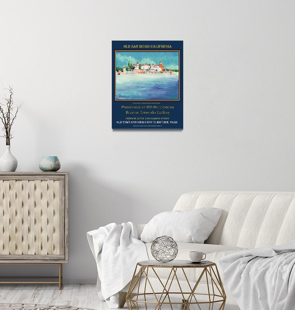 """Coronado Beach Riccoboni Art Poster"" (2009) by RDRiccoboni"