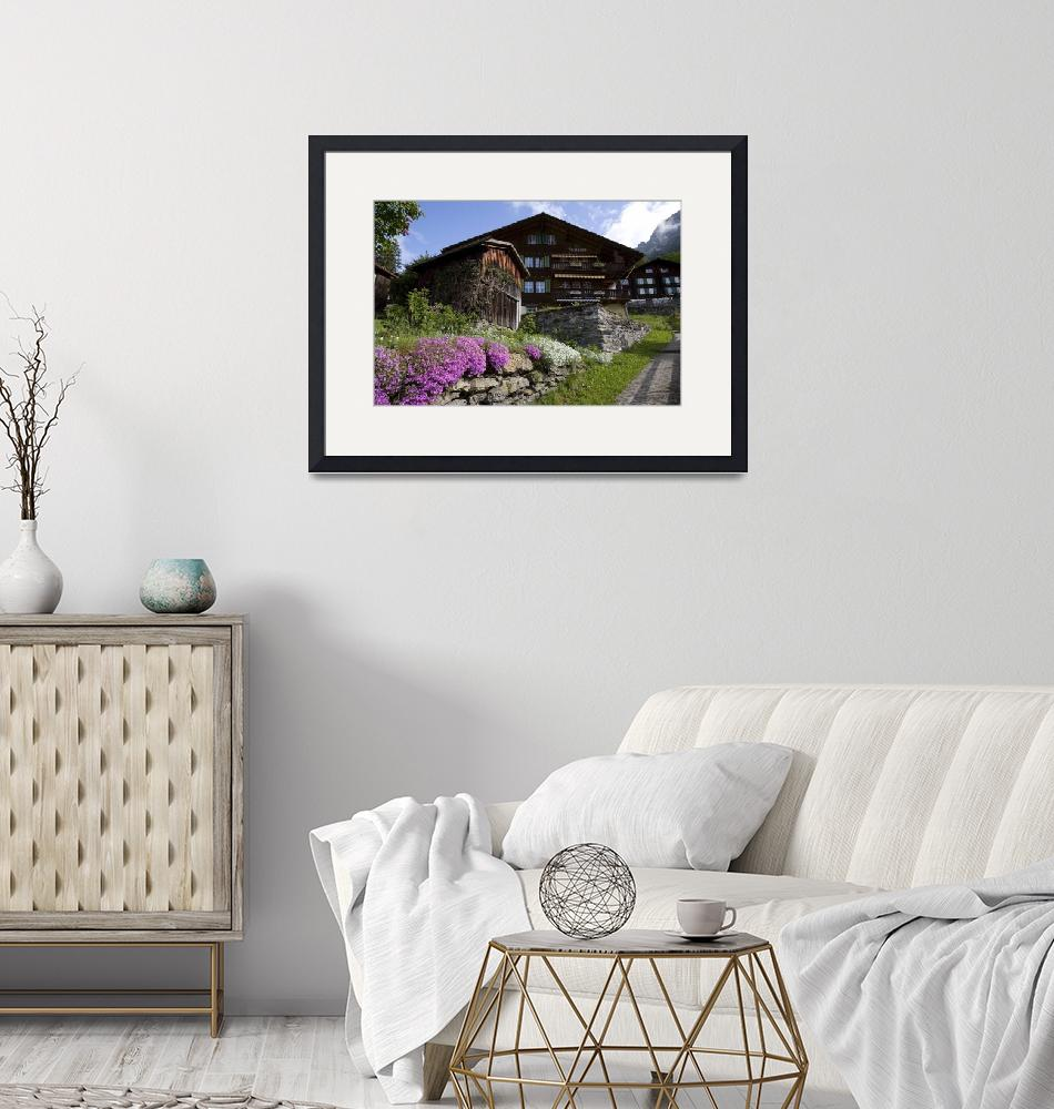 """""""Wengen Chalet Spring""""  (2009) by davidhowell"""