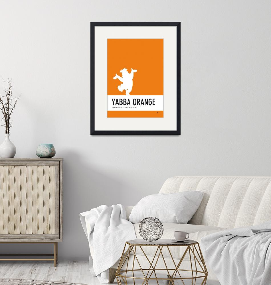 """""""No04 My Minimal Color Code poster Fred Flintstone""""  by Chungkong"""