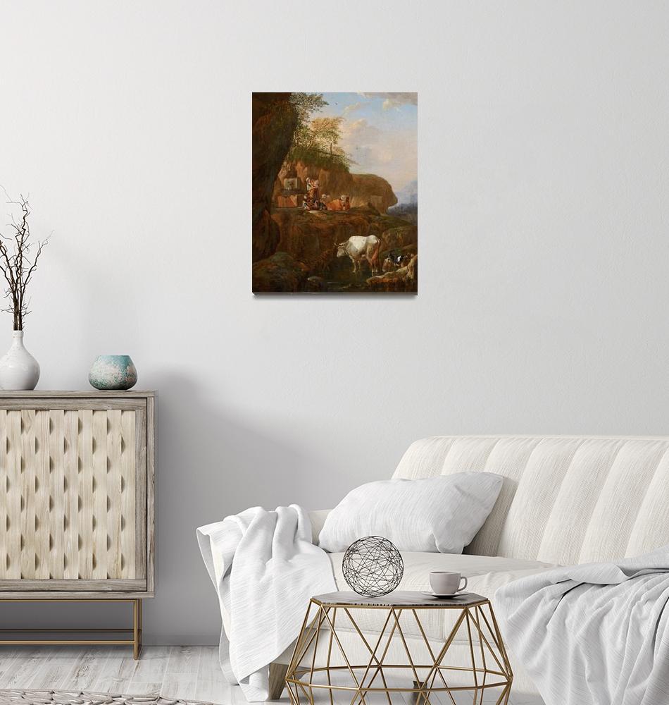 """""""Johann Heinrich Roos~Italian Landscape""""  by Old_master"""