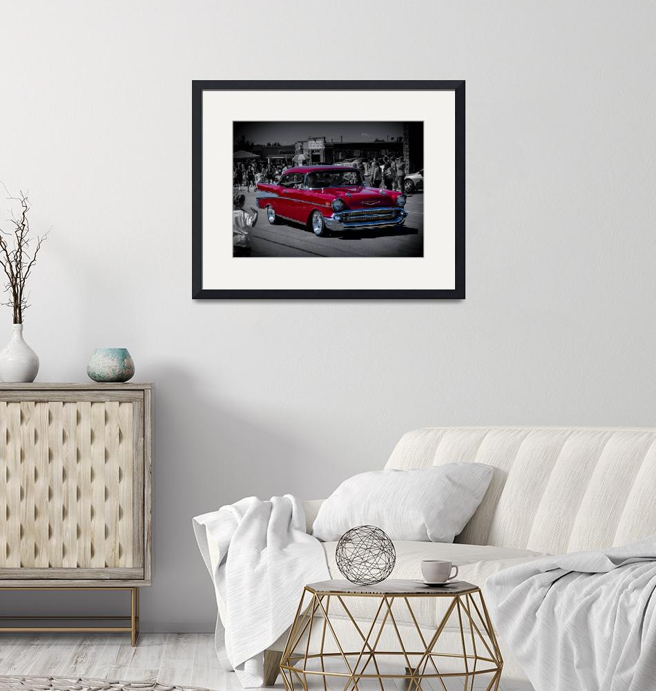 """""""Parade Red 1957 Chevy""""  (2014) by CDBDesign"""