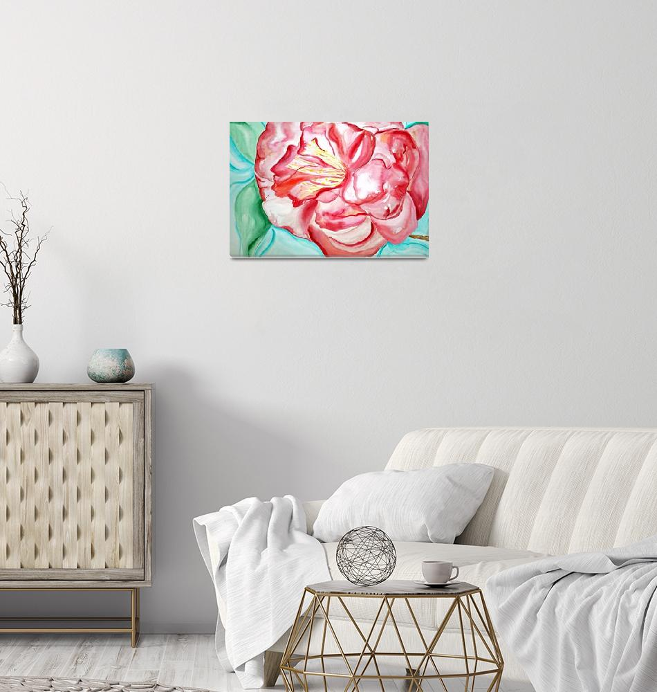 """""""Red Camellia""""  by lorisart"""