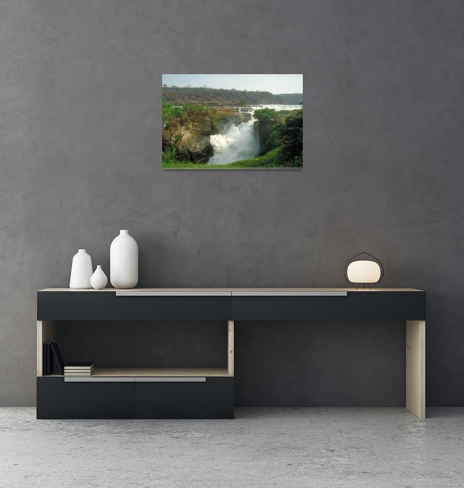 """Murchison Falls on Nile River in Uganda Africa""  by ArtLoversOnline"