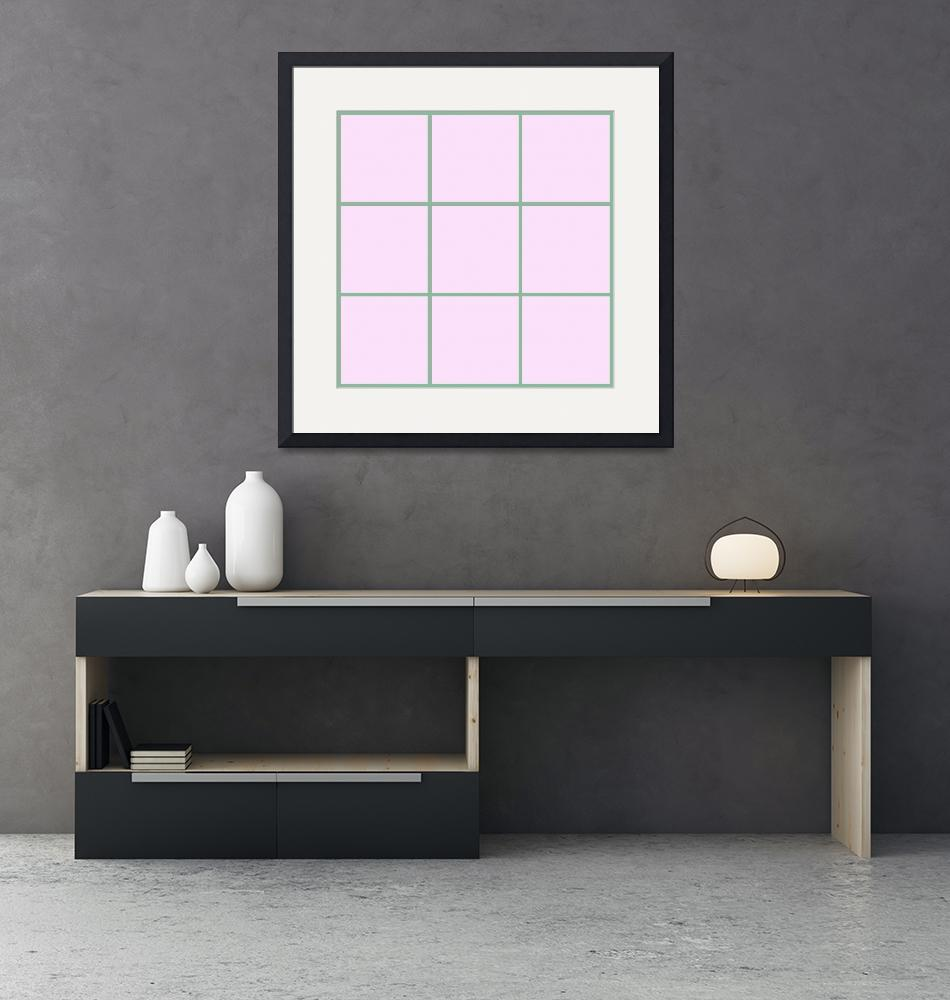 """Pink Window 182 Canvas Contemporary Modern""  (2010) by Ricardos"