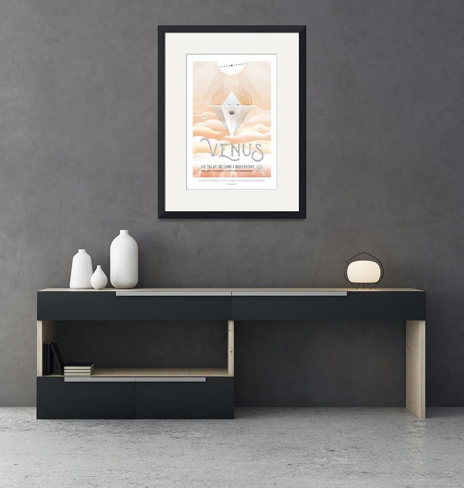 """""""NASA Venus Space Travel Poster""""  by FineArtClassics"""