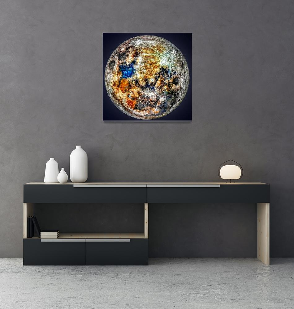"""""""A Mineral Map of the moon"""" by cosmic_background"""