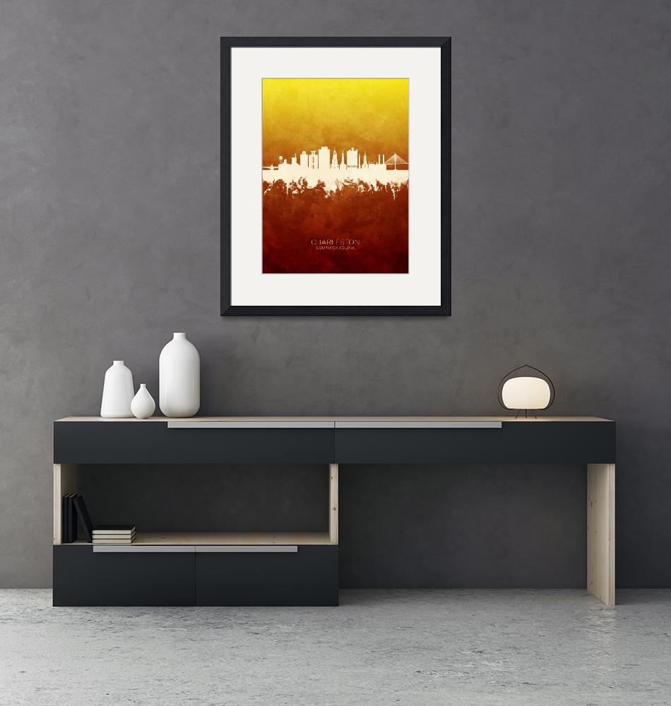 """Charleston South Carolina Skyline""  (2019) by ModernArtPrints"