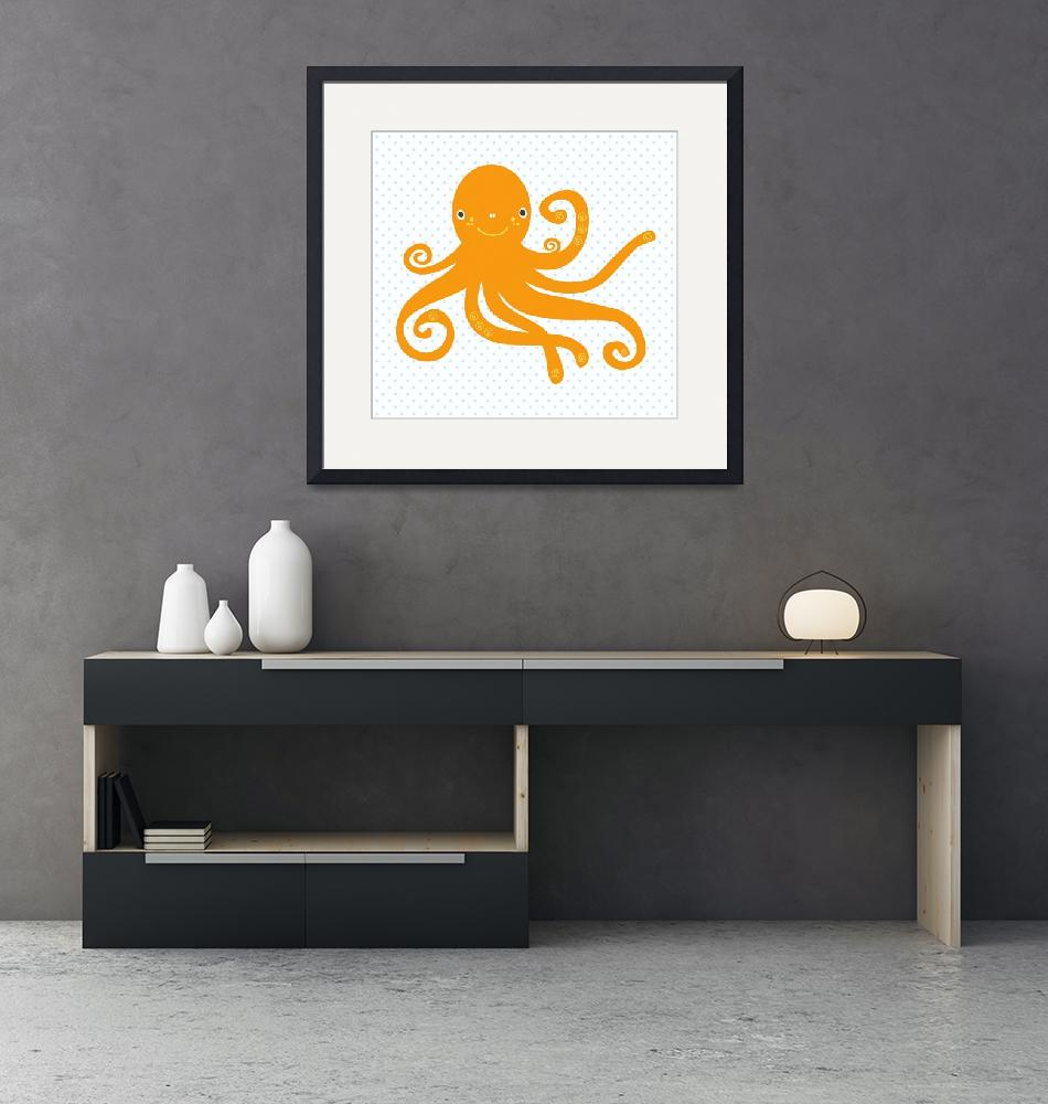 """""""octopus(white)""""  by littlebubbies"""
