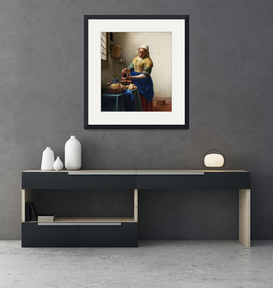 """""""The Milkmaid by Johannes Vermeer""""  by FineArtClassics"""