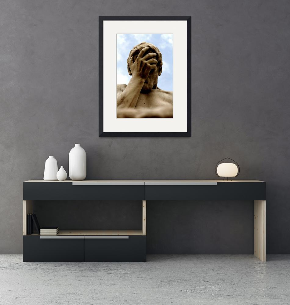 """""""Statue Head in Hand Art Prints on Sale""""  (2010) by tobiphoto"""