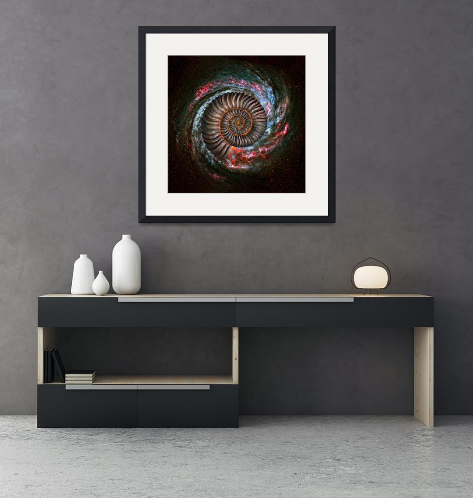 """Ammonite Galaxy""  (2016) by jerrylofaro59"