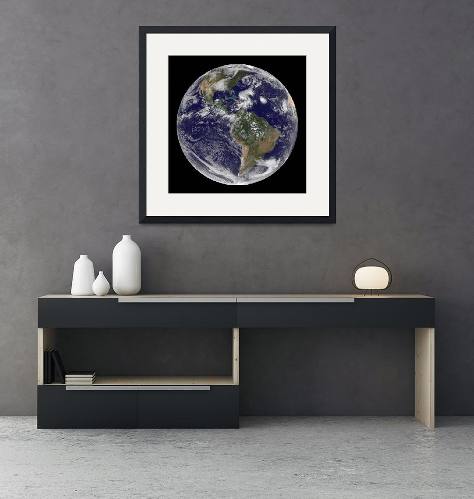 """""""View of the full Earth and four storm systems.""""  by stocktrekimages"""