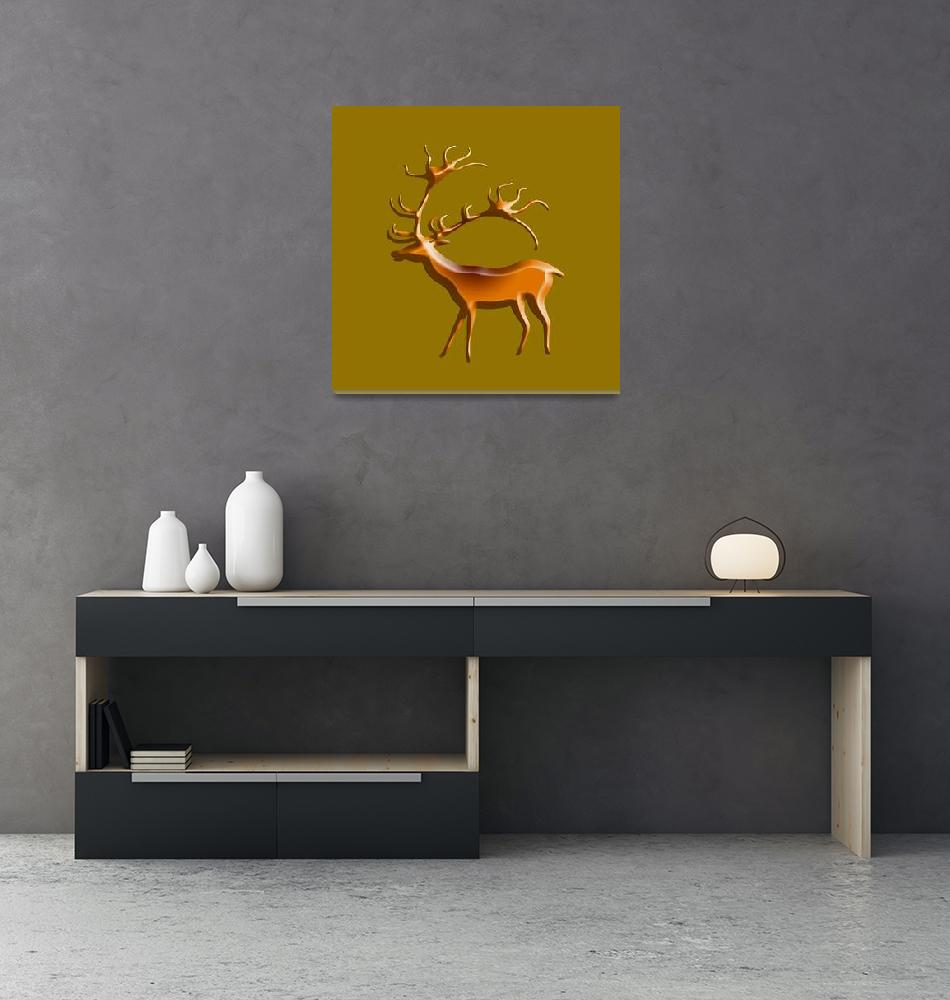 """Lascaux Deer""  by asoknath"