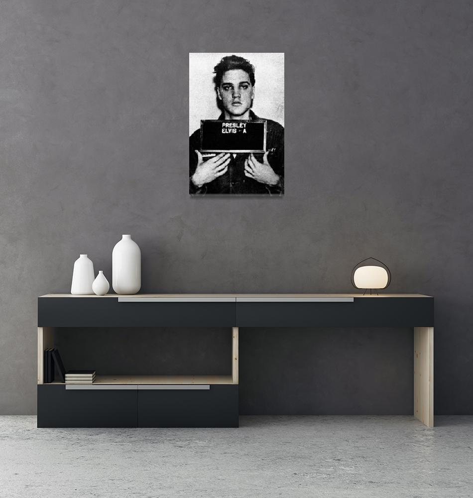 """""""Elvis Presley Mug Shot Vertical 1""""  (2016) by RubinoFineArt"""