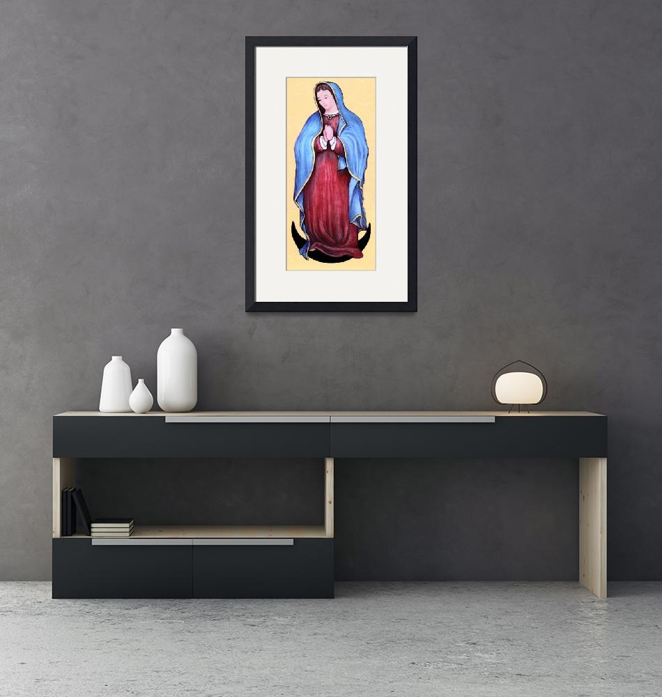 """""""The Blessed Mother""""  (2007) by woodmaster"""