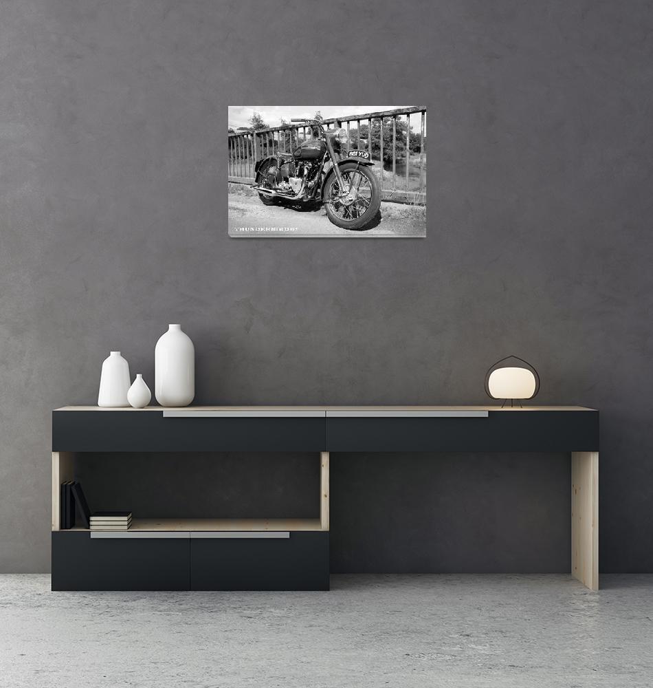 """The Thunderbird 6T Vintage Motorcycle""  by mark-rogan"