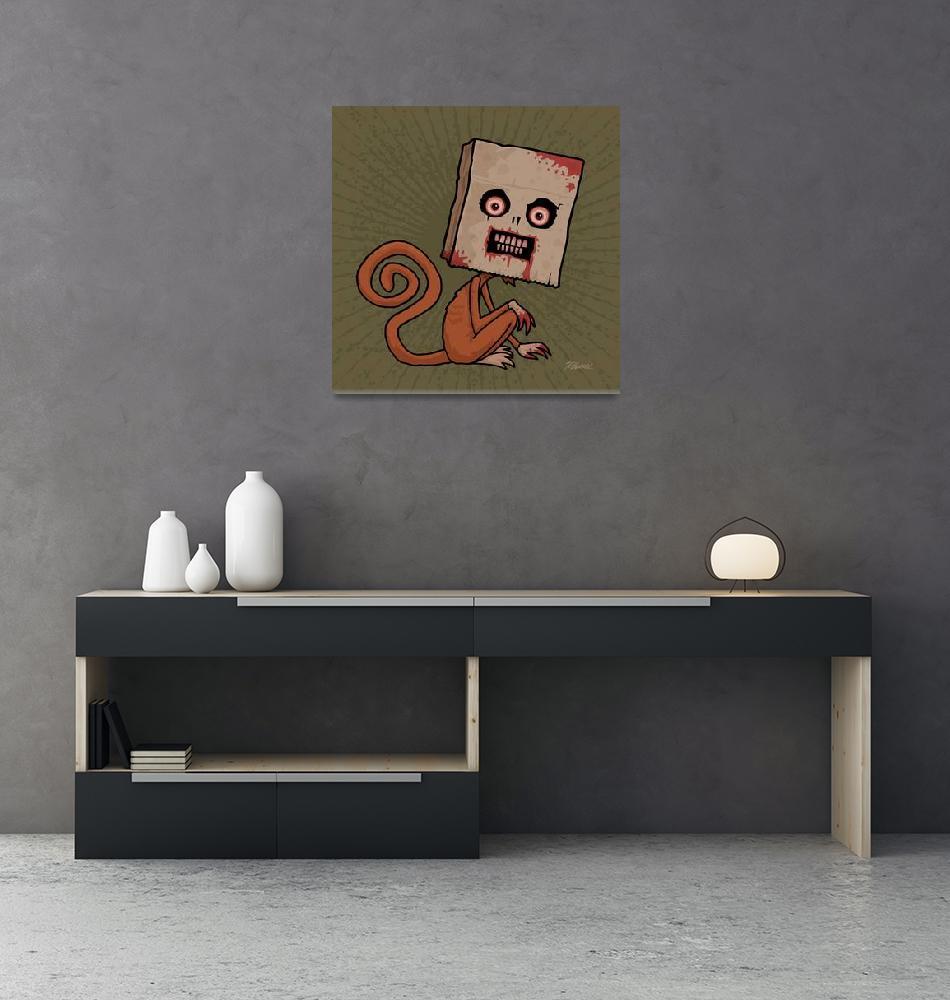 """""""Psycho Sack Monkey""""  (2010) by schwegel"""