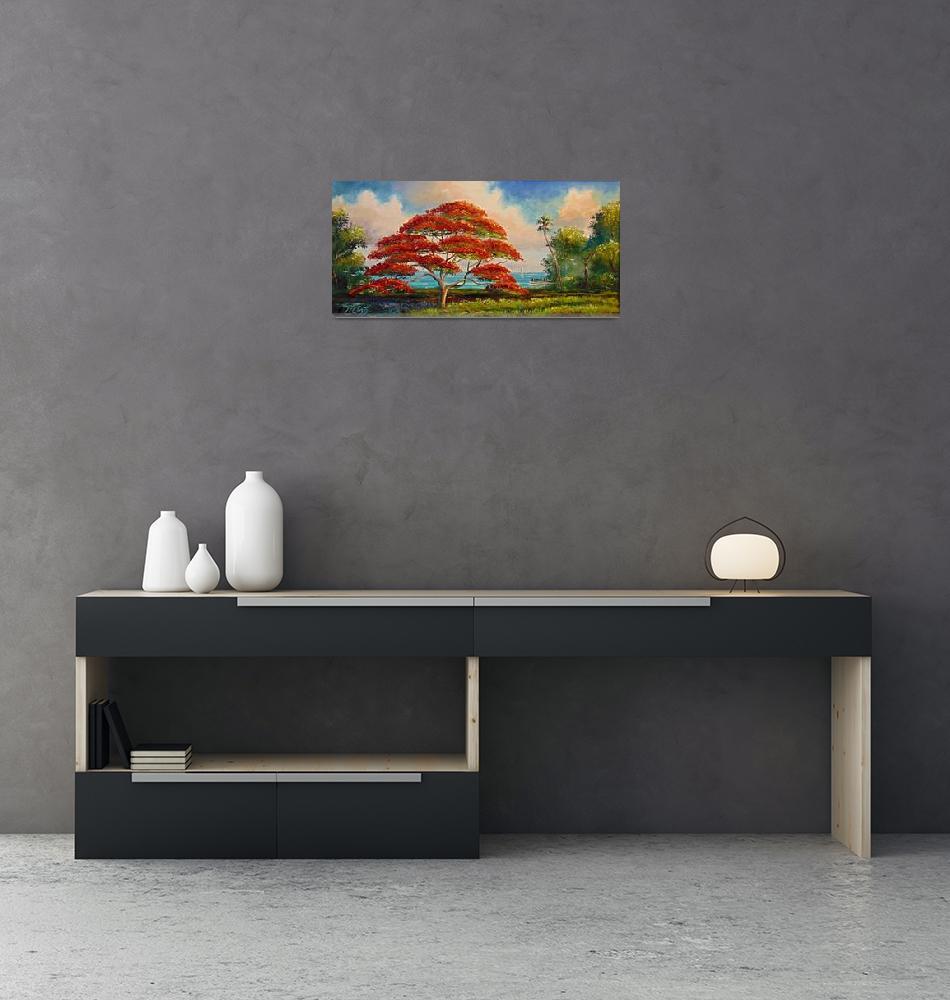 """Royal Poinciana Panoramic""  (2007) by mazz"
