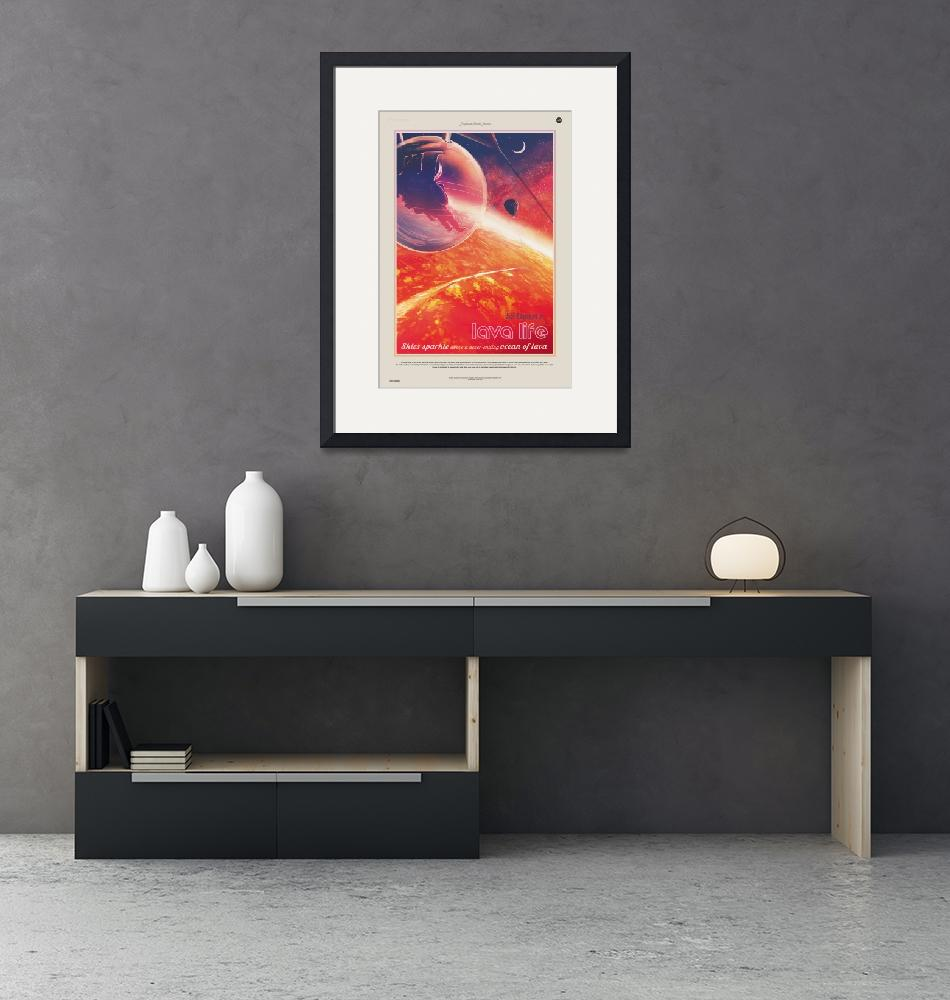 """""""NASA Lava Life Space Travel Poster"""" by FineArtClassics"""