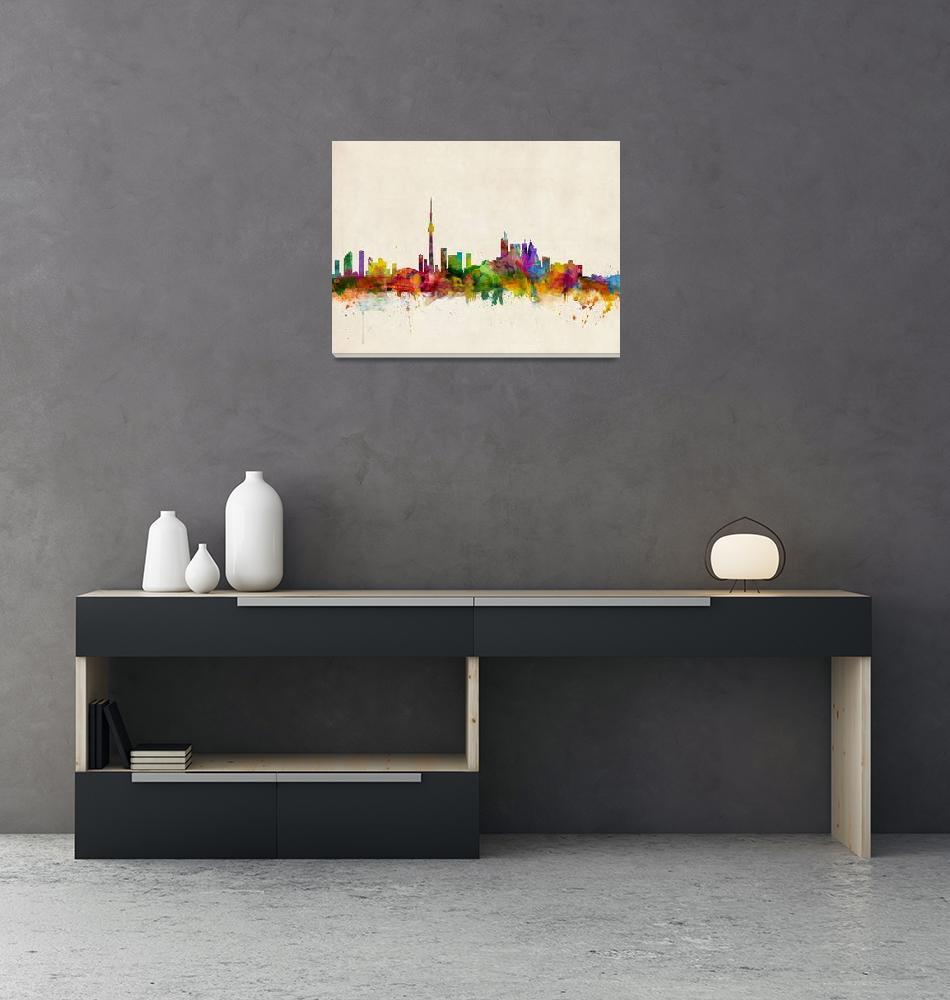 """Toronto Skyline""  (2013) by ModernArtPrints"