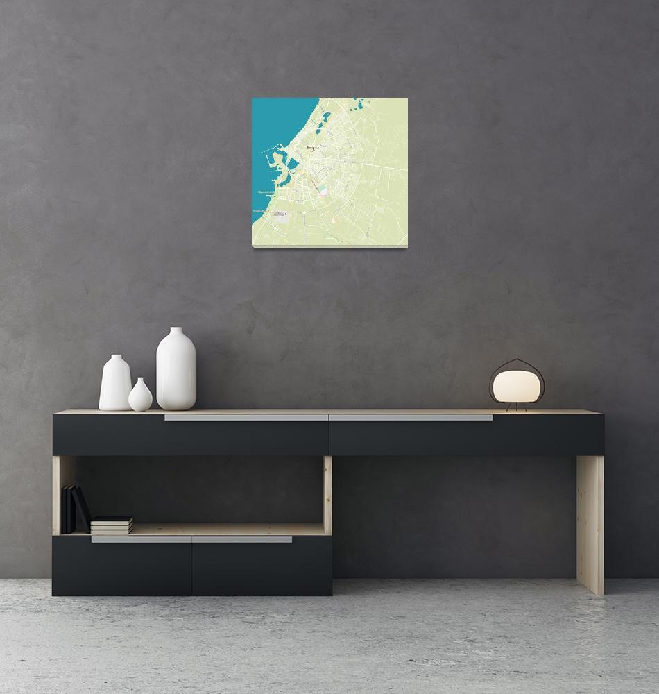 """""""Minimalist Modern Map of Benghazi, Libya 2""""  by motionage"""