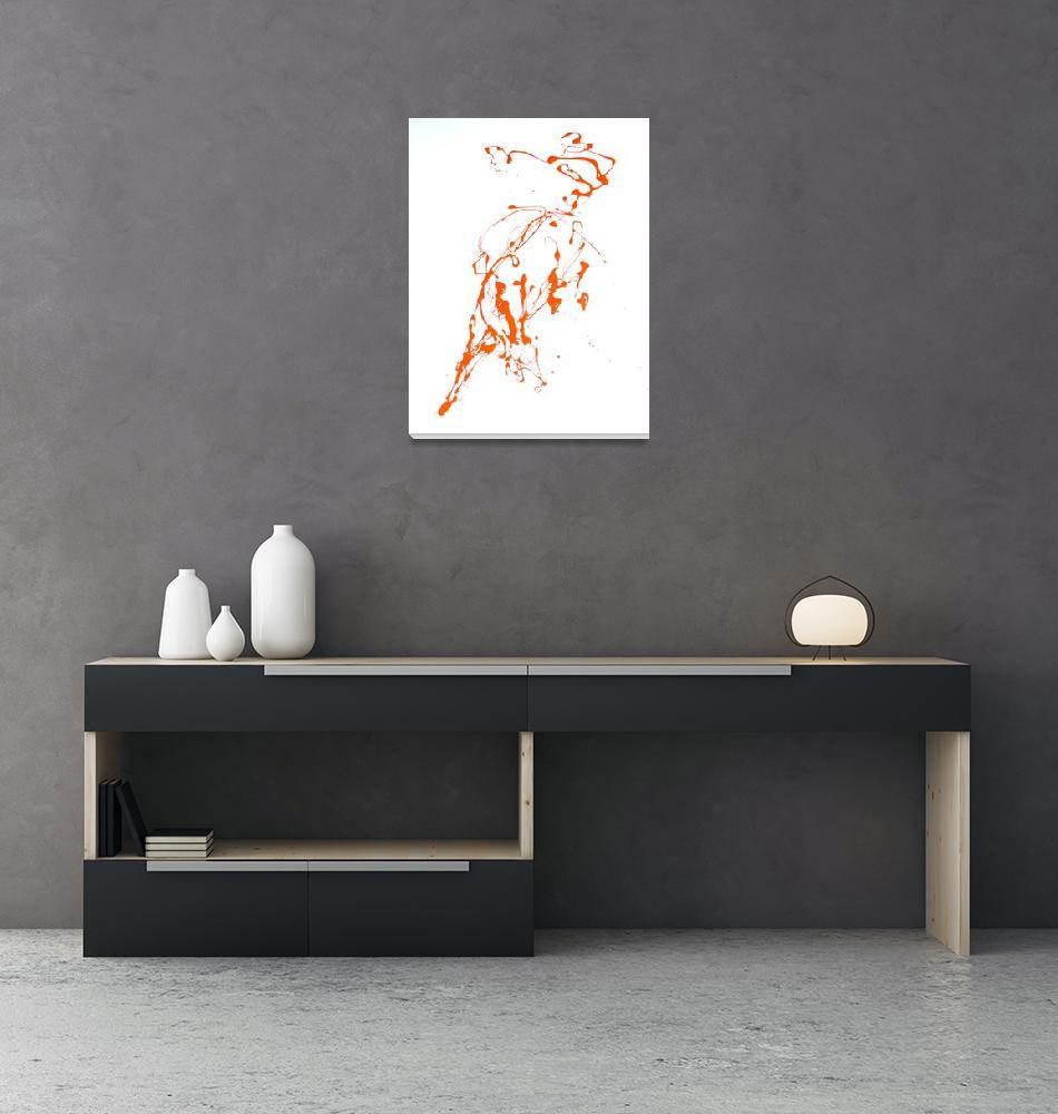 """Bucking Horse in Orange""  by EmilyMcIntosh"