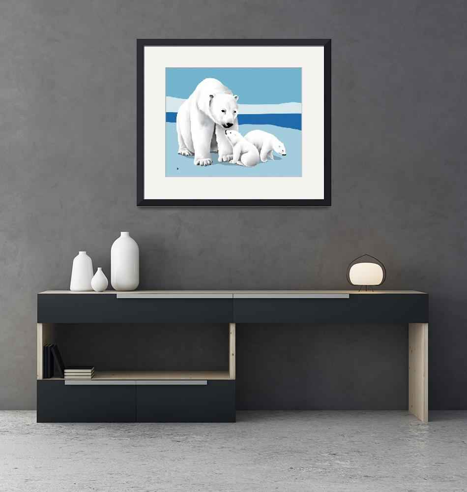"""""""Polar Bear and Cubs""""  by waterart"""