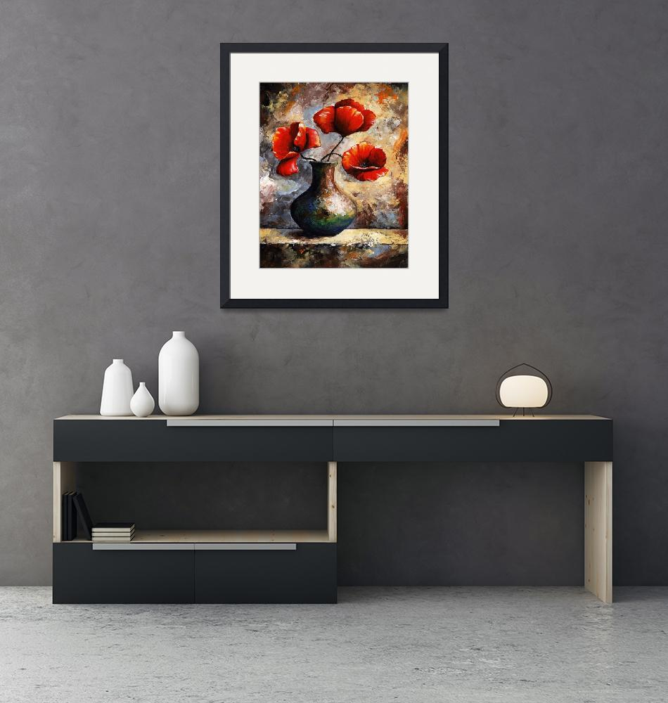 """""""Red Poppies""""  (2012) by EmericoStyle"""
