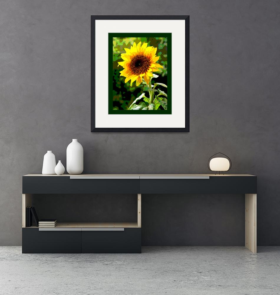 """""""Sunflower Enhanced large border""""  (2013) by TheNorthernTerritory"""