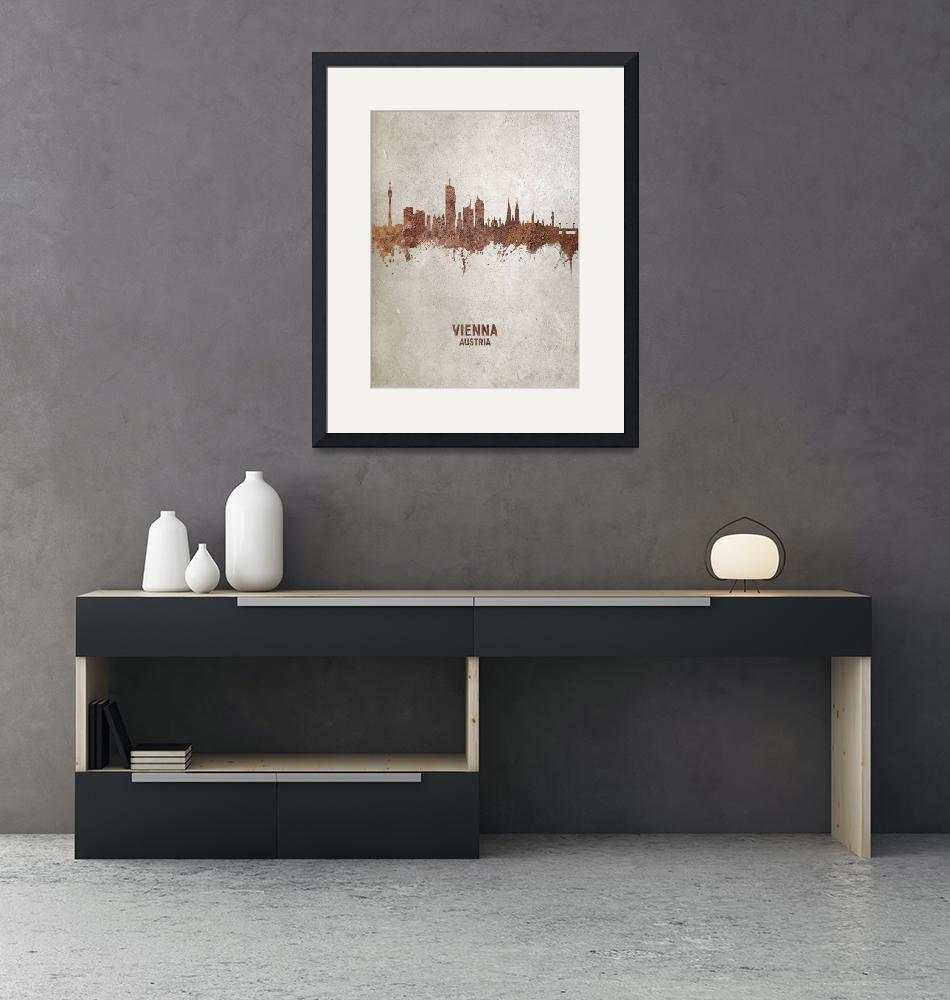 """Vienna Austria Skyline""  (2019) by ModernArtPrints"