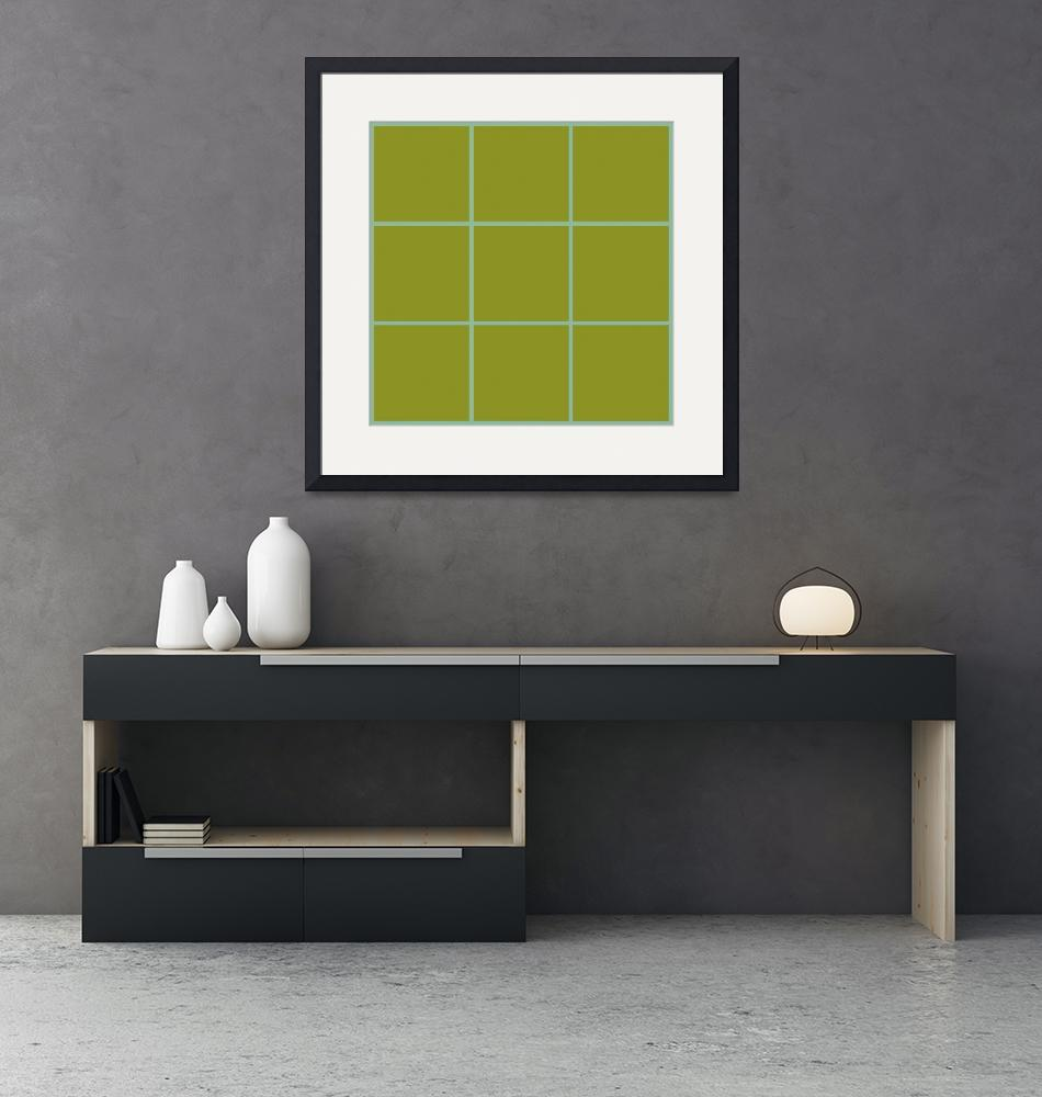 """Green Window 112 Canvas Contemporary Modern""  (2010) by Ricardos"