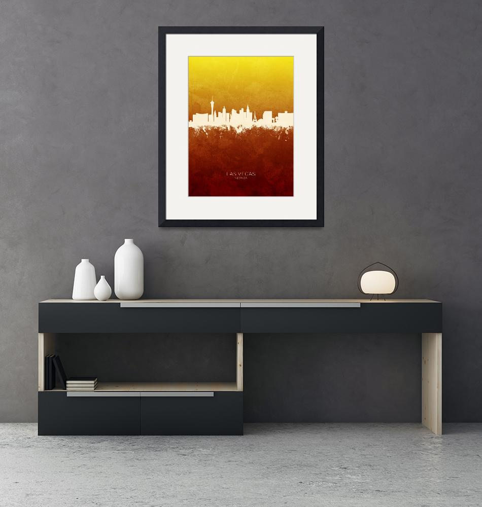 """Las Vegas Nevada Skyline""  (2019) by ModernArtPrints"