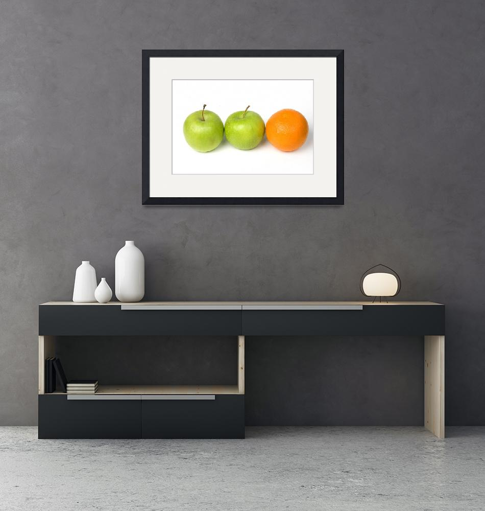 """""""Two apples and one orange in the row""""  (2010) by Tom_K"""