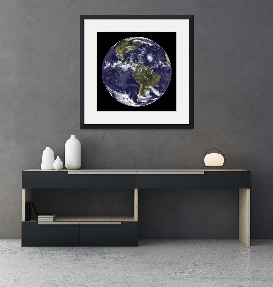 """""""Full Earth showing North America and South America""""  by stocktrekimages"""